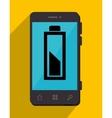 Battery recharging smartphone design vector image