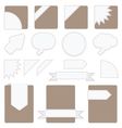 tabs set vector image vector image