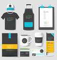 Set of restaurant and coffee shop uniform corporat vector image
