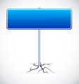 Blank road sign vector image