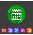Calendar flat icon web sign symbol logo label vector image