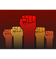Revolution fist vector image