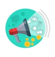 SEO Loud Speaker Web Button Business Marketing vector image vector image