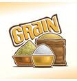 logo of grain vector image