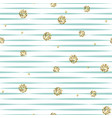 striped blue and white seamless pattern with vector image