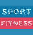sketch fitness horizontal banners vector image