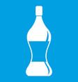 soda water icon white vector image