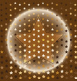 star gold halftone abstract background vector image