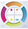 Infographic design with circle and four segments vector image vector image