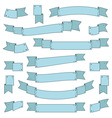 blue ribbons vector image