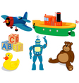 childrens toys vector image vector image
