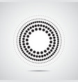 Halftone dots circle vector image