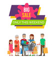 big sale this weekend poster vector image