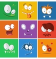 Cartoon funny faces with emotions Monsters vector image