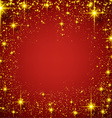 Christmas red starry background vector image