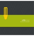 Energy saving fluorescent light bulb vector image