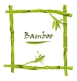 Hand-drawn green bamboo frame with space for text vector image