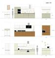 Kitchen furniture Interior vector image