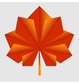 maple origami orange leaf vector image