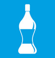soda water icon white vector image