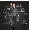 teaching web design analytics branding and content vector image