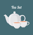 teapot and cups seamless pattern vector image