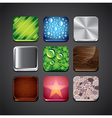 textures apps set vector image