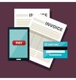 icon invoice design vector image