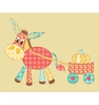 Burro patchwork vector image vector image