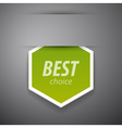 Best choice sticer vector image vector image