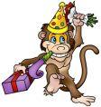 monkey and gift vector image