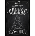Cheese Poster chalk vector image vector image