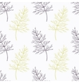 Hand drawn dill branch stylized black and green vector image vector image