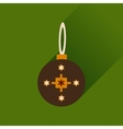 Flat icon with long shadow Hanukkah ball vector image