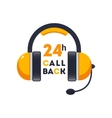 Callback icon headphones for Web and Mobile vector image