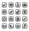 Car part and services icons vector image