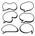 cartoon bubbles set comic style speech bubbles vector image