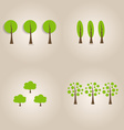 Ecology concept with Abstract trees vector image