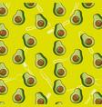 fresh half avocado tasty seamless pattern vector image