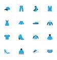 garment colorful icons set collection of vest vector image