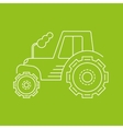 icon or logo of the tractor vector image
