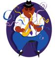 Jazz saxophone player vector image