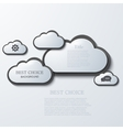 modern clouds infographic background vector image