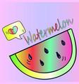 neon watermelon sticker vector image