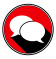 red information icon - white speech bubbles vector image
