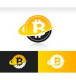 Swoosh Bitcoin Logo Icon vector image