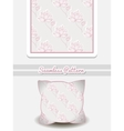 Pillow Pink Flowers On Gray vector image