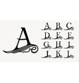 Vintage Set 1 Calligraphic capital letters with vector image