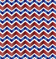 Chevron zig zag red white and blue vector image