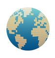 Pixelized globe vector image